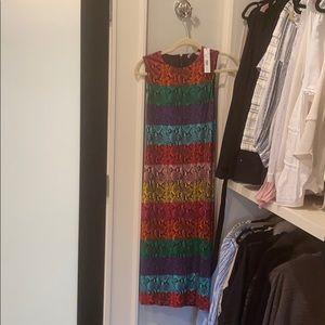 rainbow snake skin patterned dress